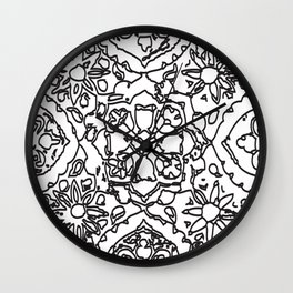 Isola Signature Print Monocrome  Wall Clock