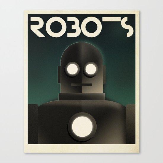 Cassandre Spirit - Robots Canvas Print