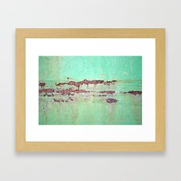 Rusted metal Framed Art Print
