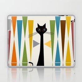 Mid-Century Modern Art Cat 2 Laptop & iPad Skin