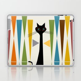 Mid-Century Modern Art Cat 2 Laptop & iPad Skin