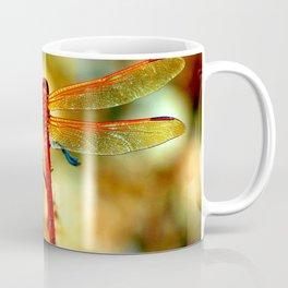 Glistening Red Dragonfly Coffee Mug