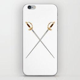 Crossed Infantry Swords iPhone Skin