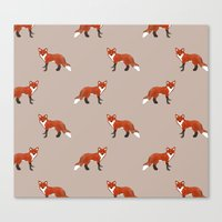 foxes Canvas Prints featuring Foxes by Abby Galloway