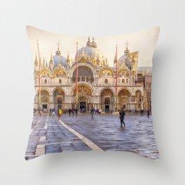 Saint Mark's Basilica, Venice (Italy) Throw Pillow