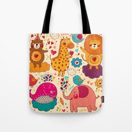 Animals in love Tote Bag