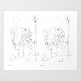 Zen Master 01 and 02 together... Art Print