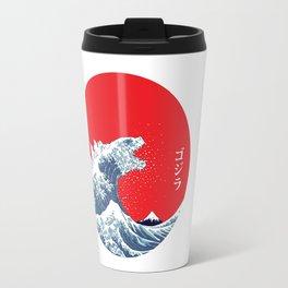 Hokusai kaiju Travel Mug