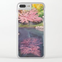 Spring Reflecion Clear iPhone Case