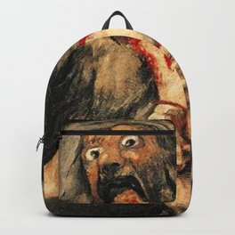 Saturn Devouring His Son Goya Painting Backpack