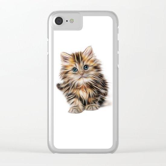 cute kitten Clear iPhone Case