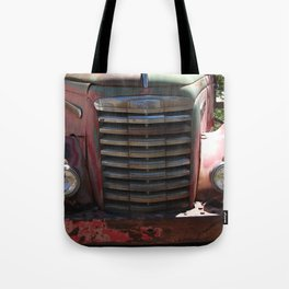 GMC, GMC Truck Grill, Old Truck Tote Bag