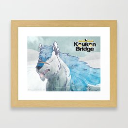 Snow In His Whiskers (KB) Framed Art Print