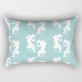 White Panther Rectangular Pillow