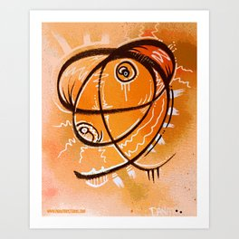The Orange thing that I saw in a dream Art Print