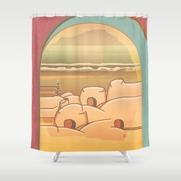 Beached Labyrinth Shower Curtain