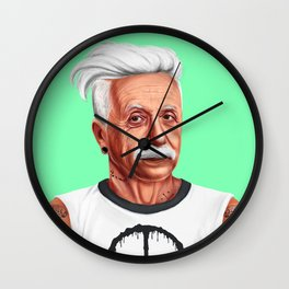 Hipstory -  Albert Einstein Wall Clock