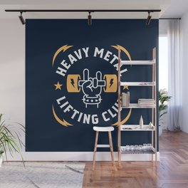 Heavy Metal Lifting Club (Yellow) Wall Mural