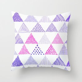 Various Triangle Pattern Throw Pillow