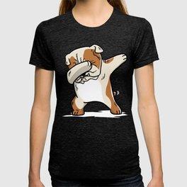 Funny English Bulldog Dabbing T-shirt