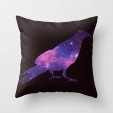 SPACE CROW Throw Pillow