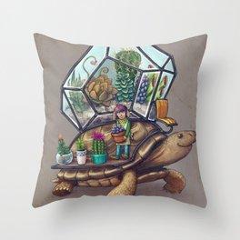 Tortoise Terrarium Throw Pillow