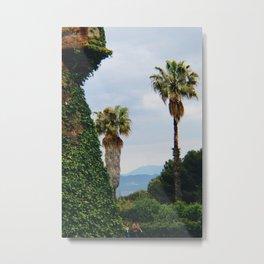 Montjuic Palms Metal Print