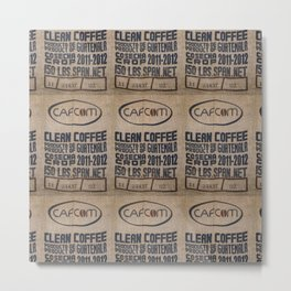 Guatemala - Burlap Coffee Bag Metal Print
