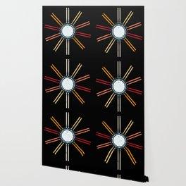 Retro Musician Drums Wallpaper