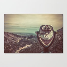 Wanderlust Vintage Tourist Binoculars Canvas Print