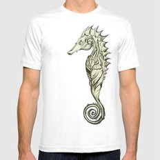 Tribal Seahorse MEDIUM Mens Fitted Tee White