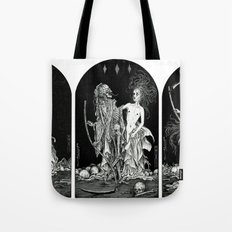 Death and the Maiden Triptych Tote Bag