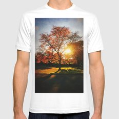 Fall White Mens Fitted Tee MEDIUM
