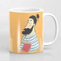 knitting Mugs featuring knitting by Milla Scramignon