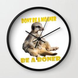 Meerkat Boner Wall Clock