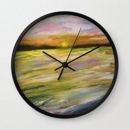 Sunset at Good Harbor Beach Wall Clock