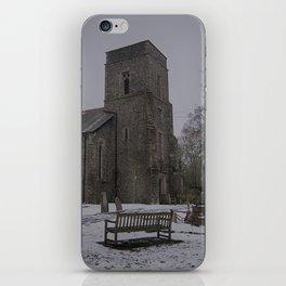 Dunkirk Church In Winter iPhone Skin