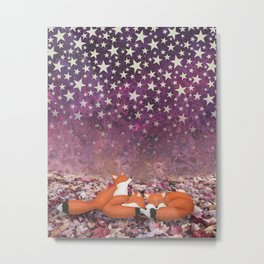foxes under the stars Metal Print