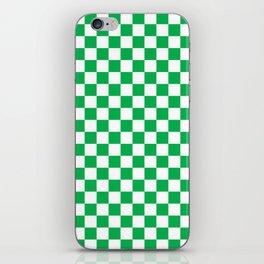 Green Checkerboard Pattern iPhone Skin