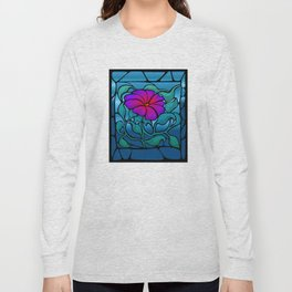 Stained Glass Flower Long Sleeve T-shirt