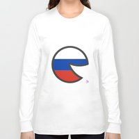 russia Long Sleeve T-shirts featuring Russia Smile by onejyoo