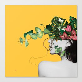 Lady Flowers Canvas Print