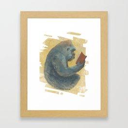 The Scholarly Ape Framed Art Print