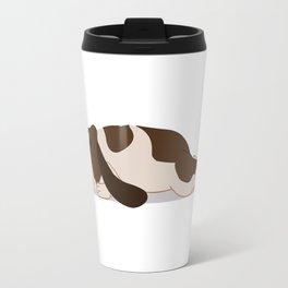 Sleeping Basset Illustration Travel Mug
