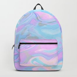 Sea Marble Candy Pattern - Violet, Aqua and Blue Backpack