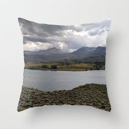 Green Mountain Reservoir Throw Pillow