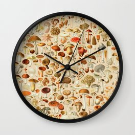 Vintage Mushroom Designs Collection Wall Clock