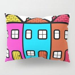 Colourful Village Street Pillow Sham