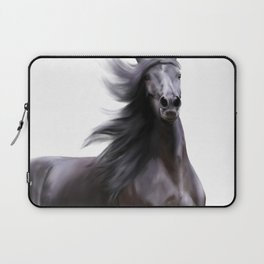 Black running horse Laptop Sleeve