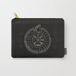 Vegvisir with Ouroboros and runes Carry-All Pouch
